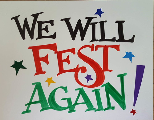 We Will Fest Again - sign by Nan Parati