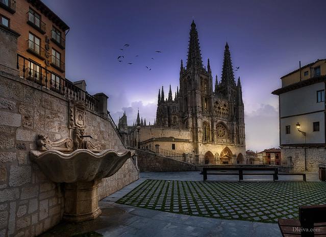 Burgos cathedral at sunrise, Spain