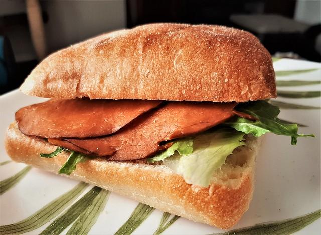 Seitan, Lettuce, Mayo Sandwich (Vegan)
