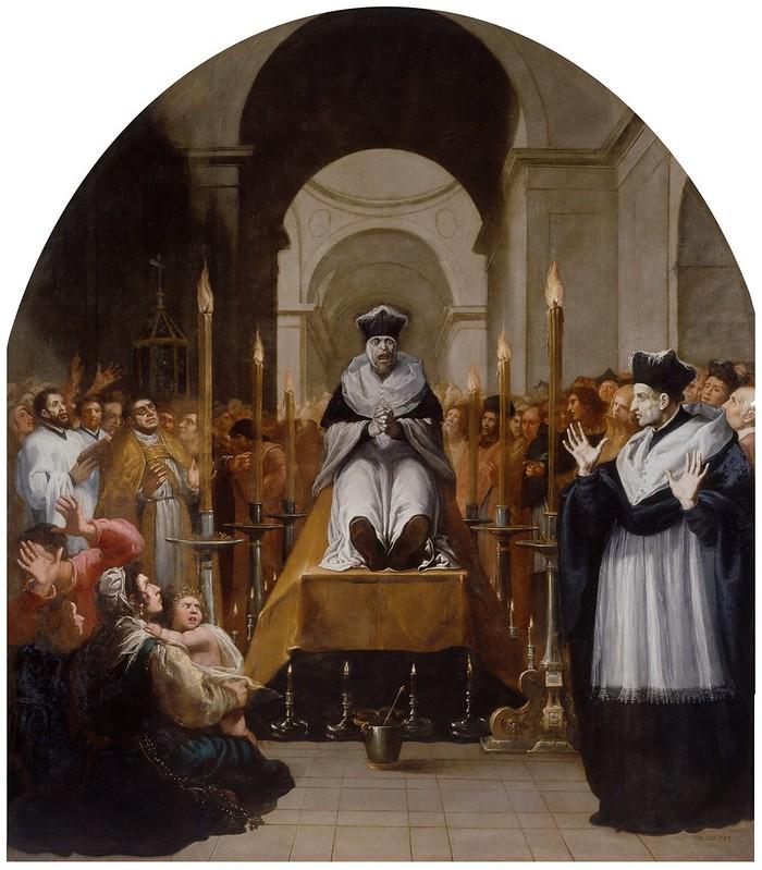 La conversión de San Bruno ante el cadáver de Diocres | Museo del Prado
