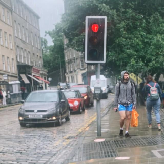 Shorts in the Rain