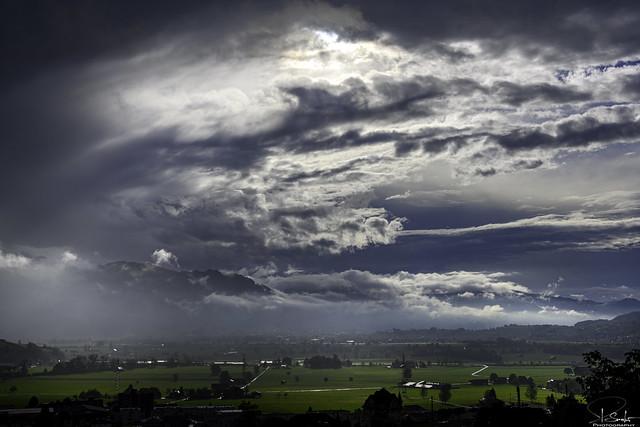 Cloudy view over Kaltbrunn - St.Gallen - Switzerland