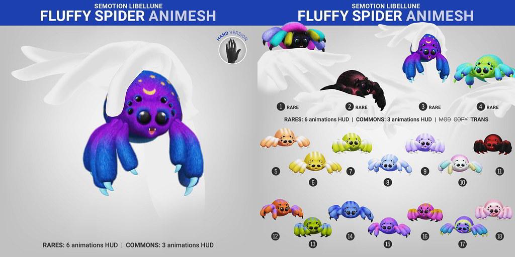 SEmotion Libellune Fluffy Spider Animesh