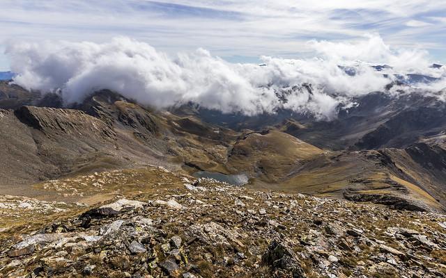 Vista de la Vall de Ransol desde el Pic de la Serrera 2913m. Andorra