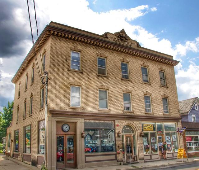 Warlborough Building - AKA Hotel - State Hotel - State Bank of Binghamton  - Marble Grill Historic