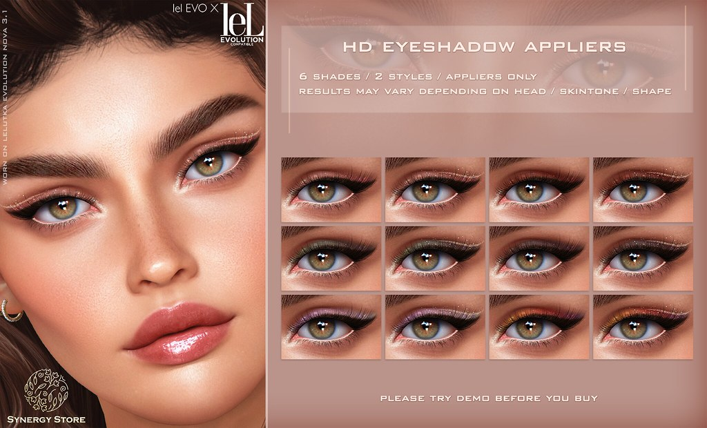 Synergy – Lelutka HD Eyeshadow Applier for EVO/EVO X heads – Manila♥