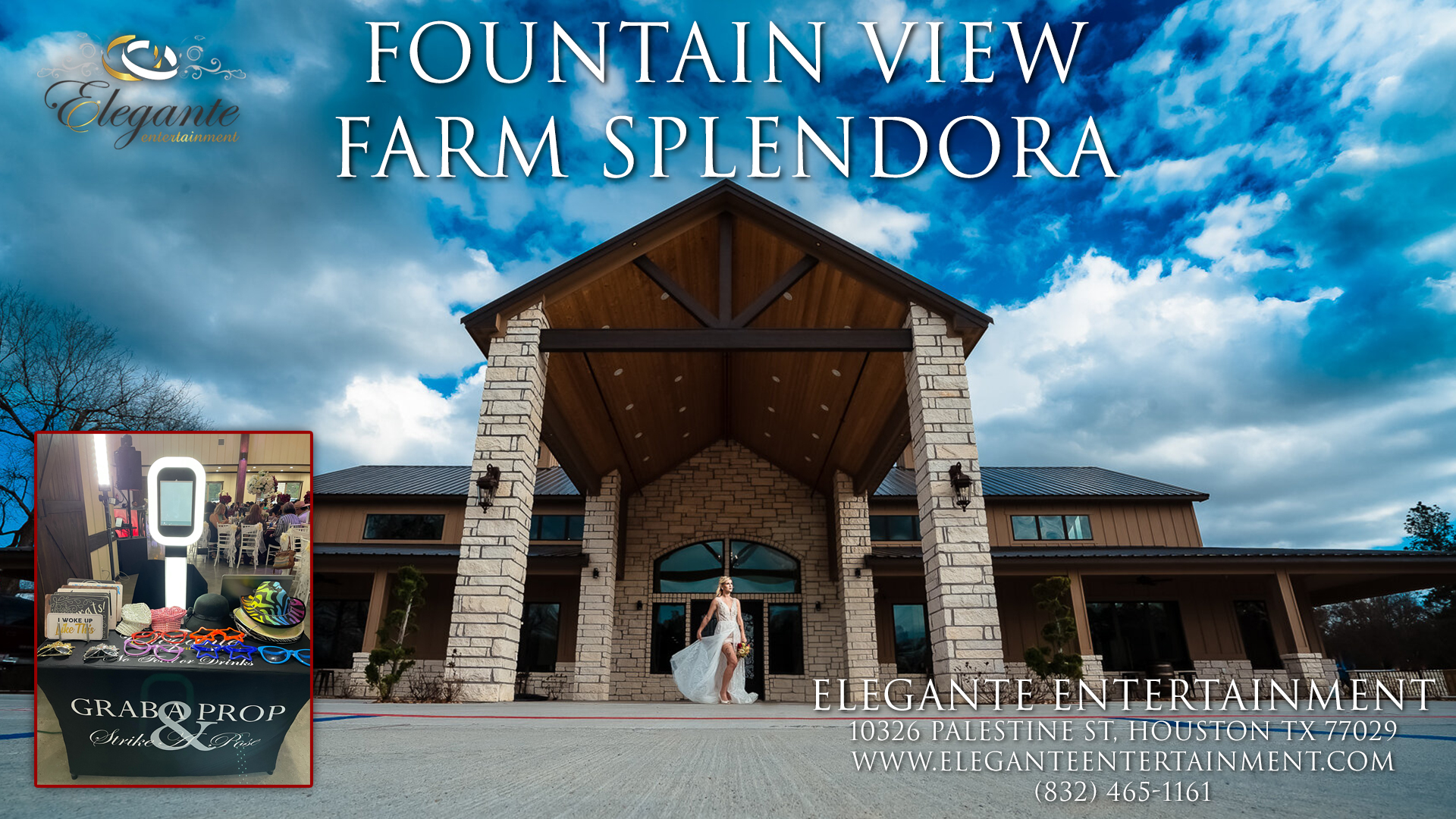 Photo Booth Rental at The Fountain View Farms