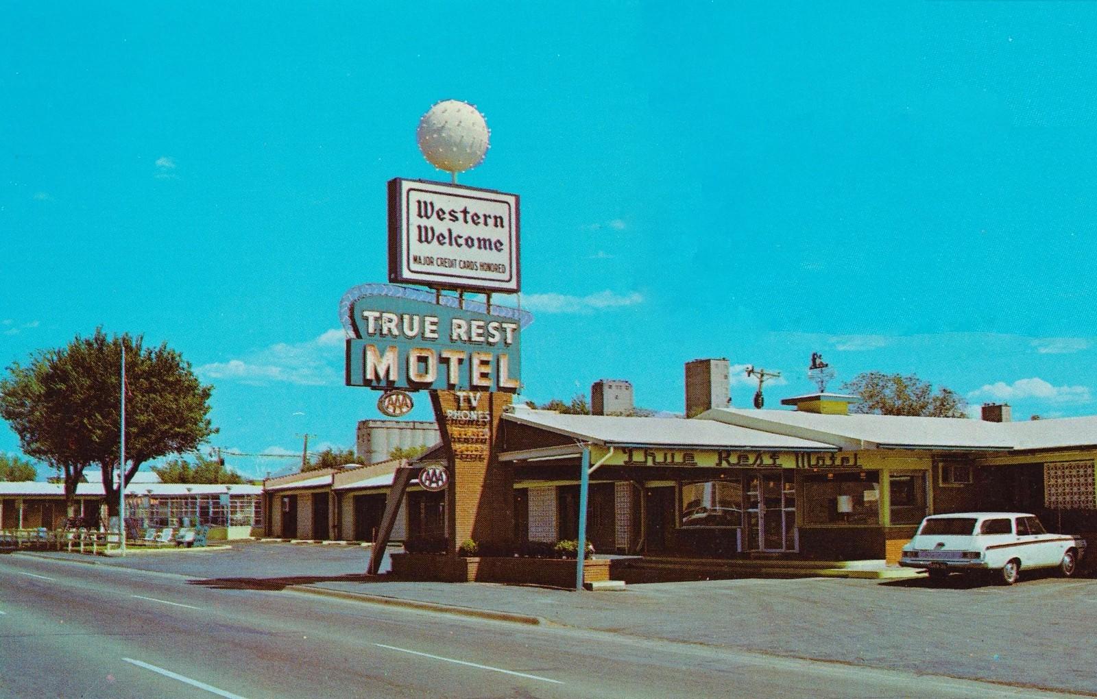 True Rest Motel - 2806 Amarillo Boulevard East, Amarillo, Texas U.S.A. - 1960's