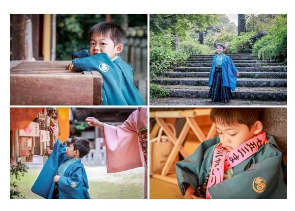 七五三 松平東照宮 5歳の男の子 青の羽織