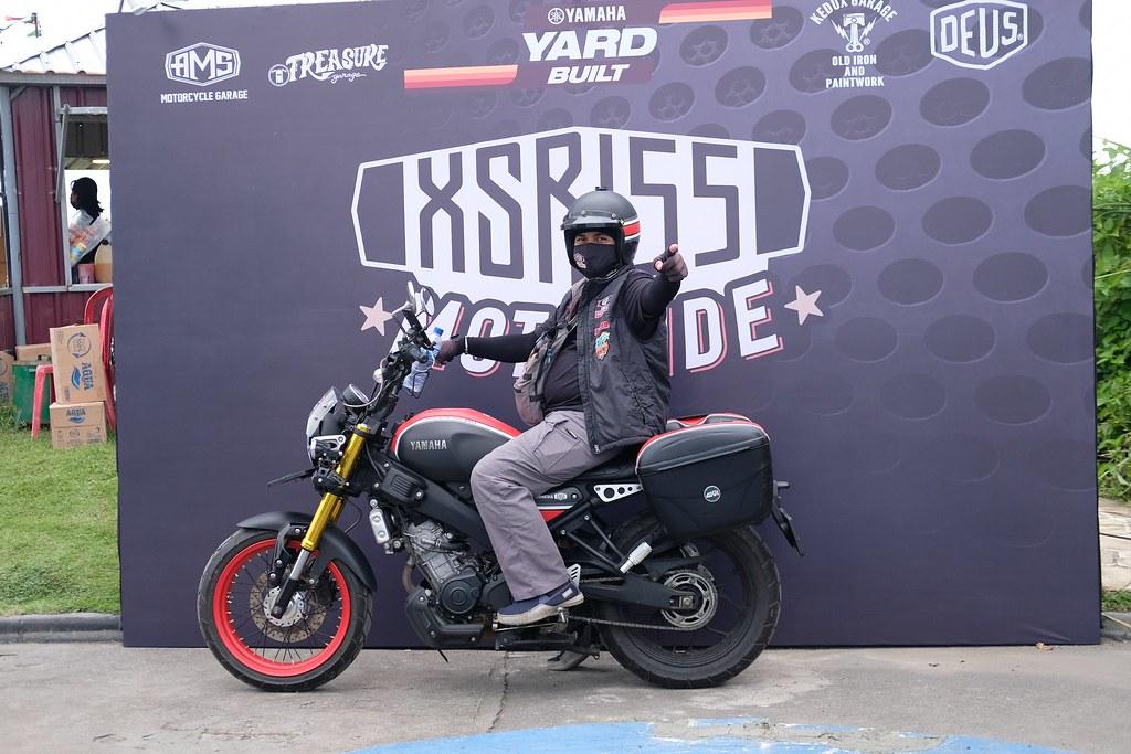 Djoe Avarell, konsumen XSR 155 yang juga pendiri dan Ketua Umum XSR Brotherhood Indonesia (XBI)