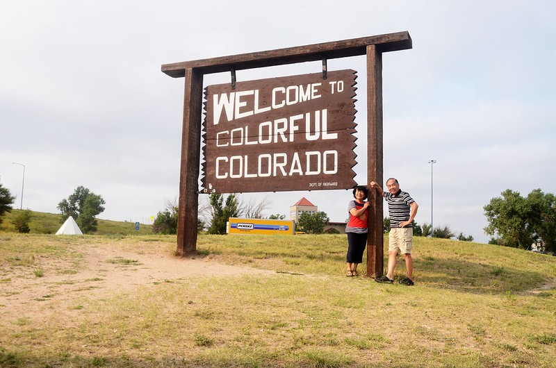 Colorado Welcome Sign in I-76 Teapea Rest Area - Julesburg (7)