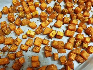 Cheesy Roasted Sweet Potatoes