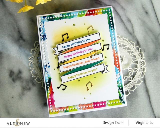 Altenew-MD Birthday Banner-Mix & Match Frame Die -003