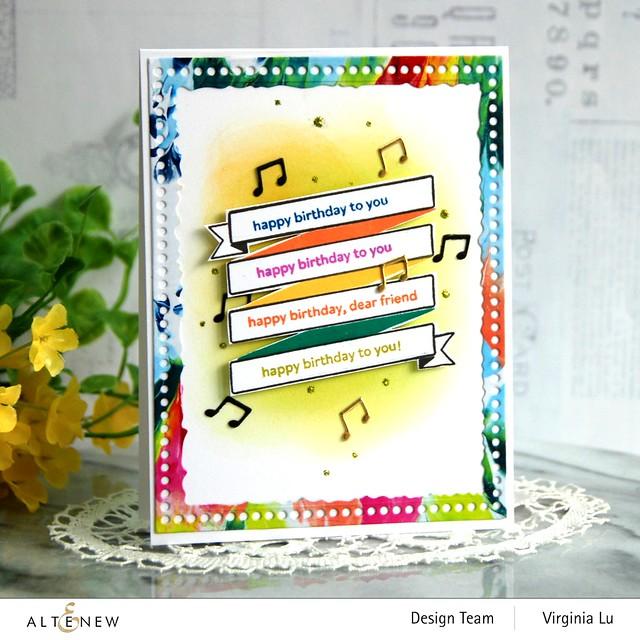 Altenew-MD Birthday Banner-Mix & Match Frame Die -001