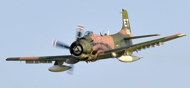 Douglas AD-6 (A-1) Skyraider BuNo 139606 N39606 USAF AF39-606 Wiley Coyote this A-6 was with the US Navy