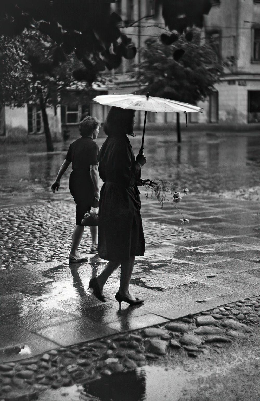 1966. Вильнюс. Дождь в Ужуписе