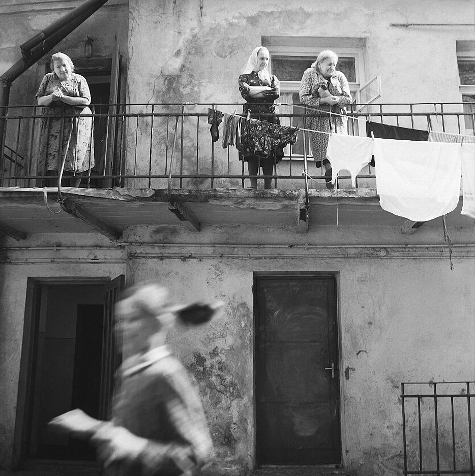 1966. Вильнюс. Балкон. Прачечная
