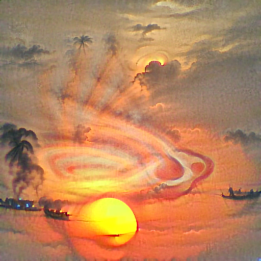 'a sunset' DirectVisions Text-to-Image