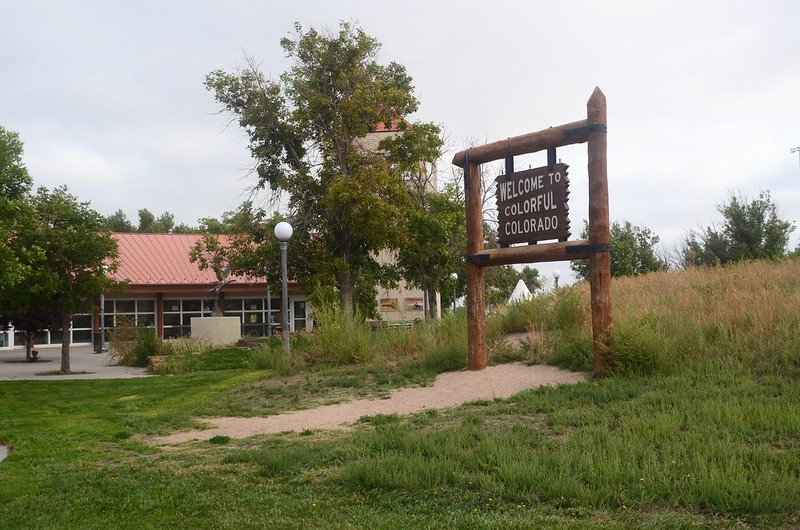 Colorado Welcome Sign in I-76 Teapea Rest Area - Julesburg (1)