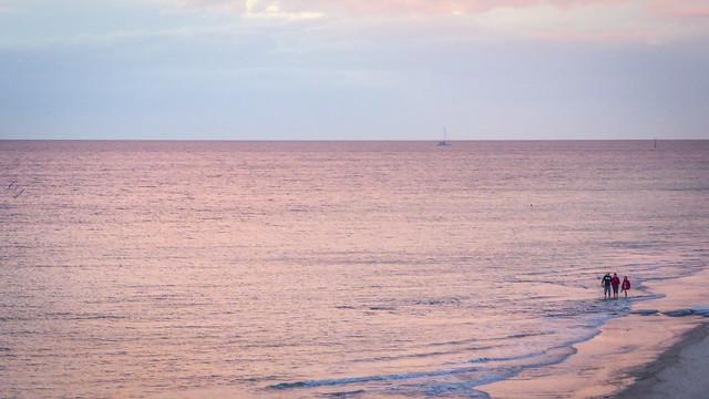 Pink Sunset Sea