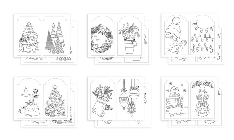 Christmas Tags Index one