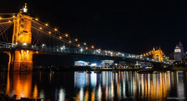 Cincinnati Riverfront on Thursday Night Football - Sept 30, 2021