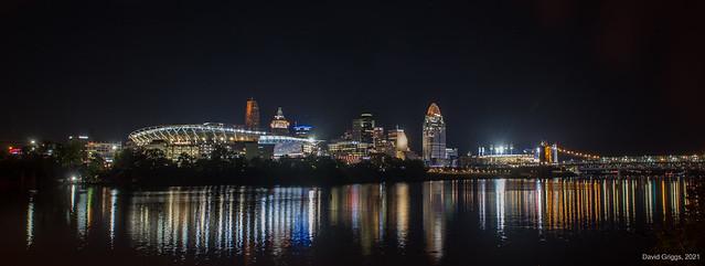 Cincinnati Riverfront with Bengals vs Jaguars