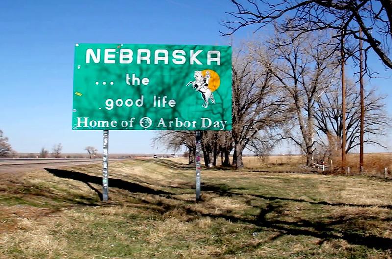 Nebraska Welcome Sign