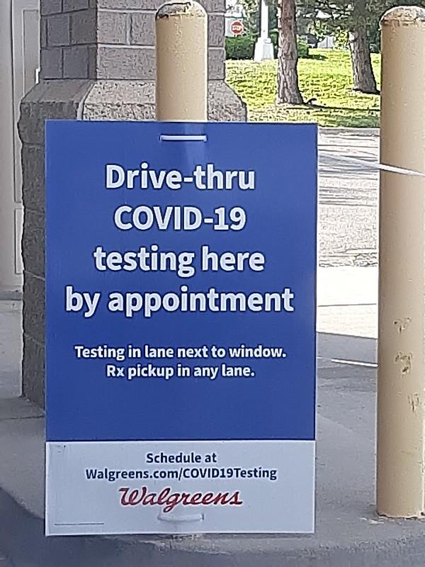 COVID-19 drive-thru lab test at Walgreens Pharmacy, Lincoln City (3)