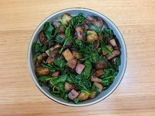 Mushroom-Kale Skillet Hash