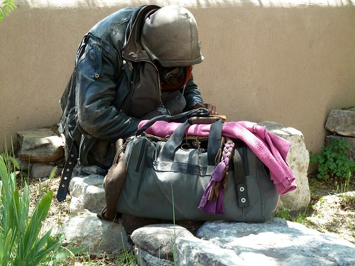 Homeless person. From Climate Change and Inequality...Does Climate Change Discriminate?