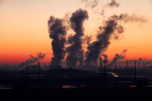 Factory with toxic exhaust. From Climate Change and Inequality...Does Climate Change Discriminate?