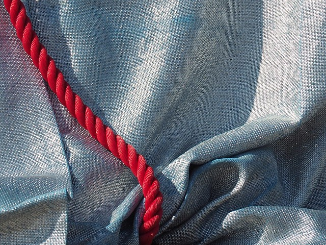 Le cordon rouge..the red rope..Arc de Triomphe emballé par Christo...