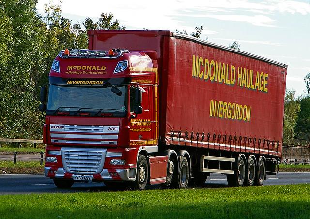 DAF XF - McDONALD Invergordon