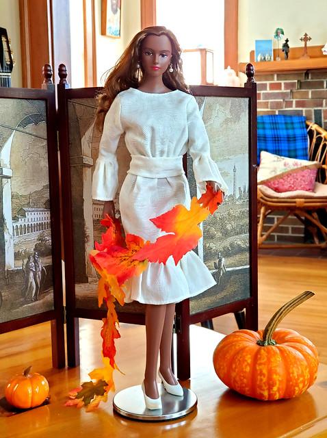 Lady Luminous celebrating Autumn.