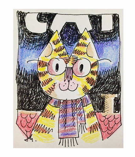 Glasses and Scarf Cat