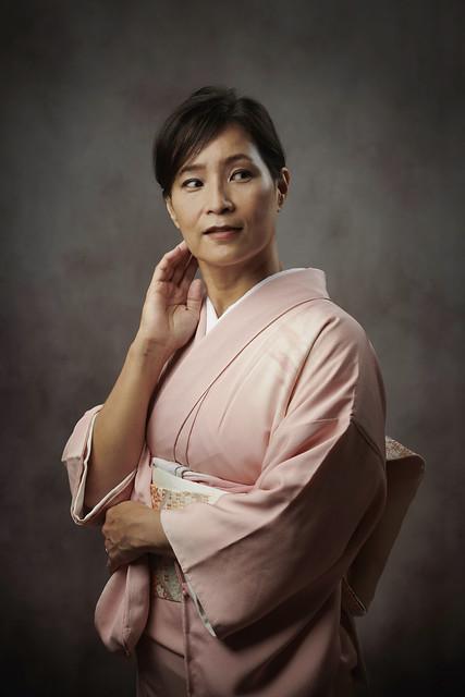 Portrait en Kimono