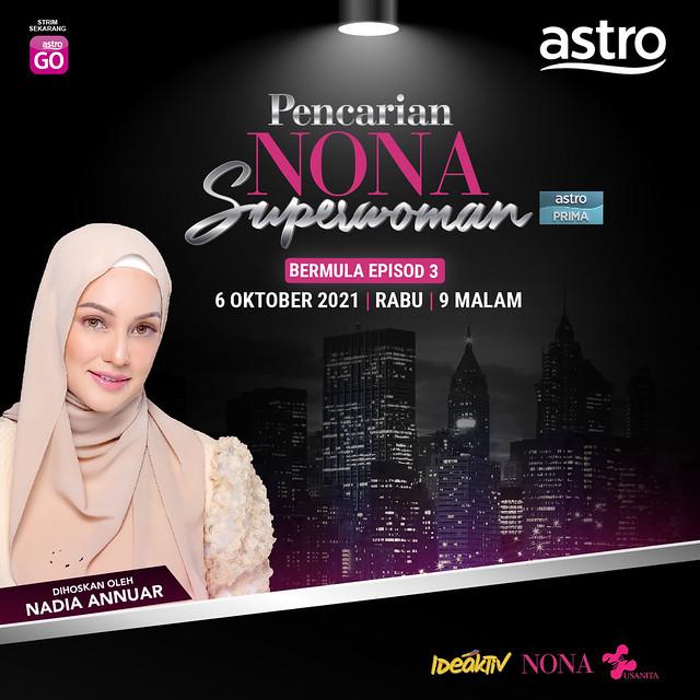 Nadia Annuar Hos Baharu 'Pencarian Nona Superwoman'