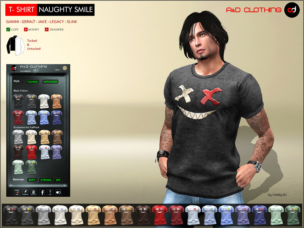 ! A&D Clothing – T-Shirt -Naughty Smile- NEW ARRIVAL