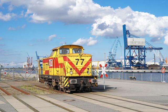 345 577 MEG - Mitteldeutsche Eisenbahn GmbH   Rostock-Seehafen   Oktober 2021