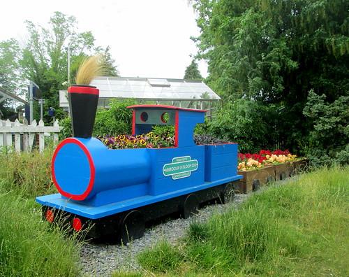 Train-Shaped Planter by Aberdour Railway Station
