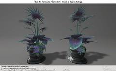 ".:Tm:.Creation ""Sci-Fi Fantasy Plant Pot"" Pack 2 types GP45"