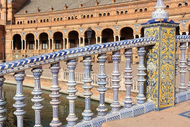 Espagne - Andalousie - Seville - Plaza de España