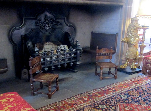 Drawing room ,small chairs, Glamis Castle