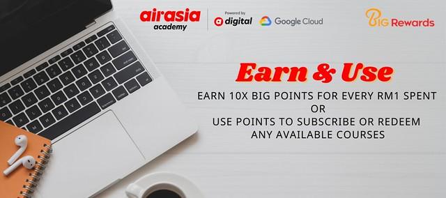 Ahli Big Kini Boleh Menggunakan Big Poin Untuk Menebus Kursus Digital Di Airasia Academy