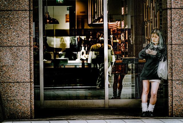 Girl in white socks