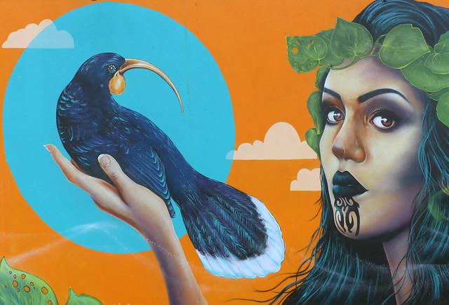 Mural by artist Erika Pearce.