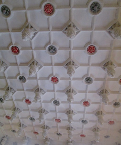 Dining room ceiling, Glamis Castle, Angus, Scotland