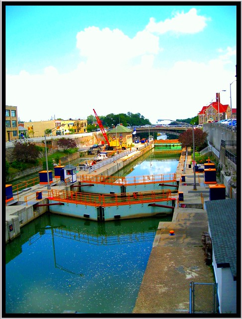 Lockport New York - Erie Canal Locks 34 35 -