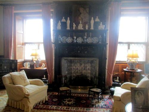 Fireplace, Glamis Castle, Angus. Scotland
